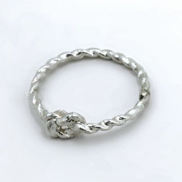 Pinky Promise Ring - Sterling Silver