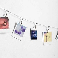 Metal Photo Clip String Set- Silver One