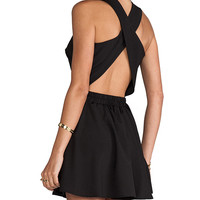 Naven Twisted Circle Dress in Black