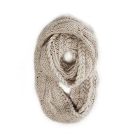 AEO Women's Chunky Cable Knit Loop Scarf