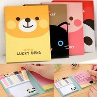 ONOR-Tech Lovely Cute Cartoon Post-It Note Bookmarker Sticky Notes Memo Note for Women, Girl as a Gift