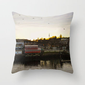 Friday Harbor Throw Pillow by Upperleft Studios | Society6