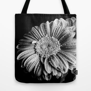 Gerbera black and white Tote Bag by VanessaGF