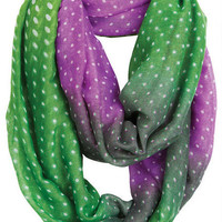 Ombre Dot Infinity Scarf -
