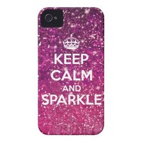 Keep Calm and Sparkle Glitter LookLike Iphone 4 Case from Zazzle.com