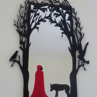 Red Riding Hood Fairytale MirrorChoose your own Colour by ikandi11