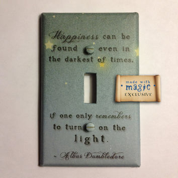 """Harry Potter Inspired """"Turn On The Light"""" Switch plate"""