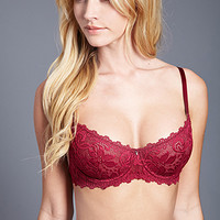 FOREVER 21 Unlined Floral Lace Bra