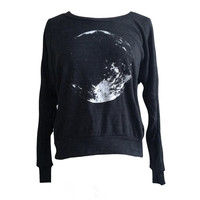 MOON Sweater -  American Apparel SOFT vintage feel - Available in sizes S, M, L