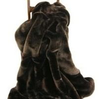 Brown Fox Luxury Faux Fur Throw