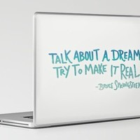 TALK ABOUT A DREAM Laptop & iPad Skin by Leah Flores | Society6