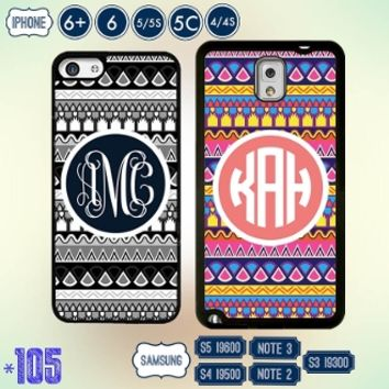 Aztec Monogram iPhone 5 case Personalized samsung note 3 cover 5S 4S S4 S3