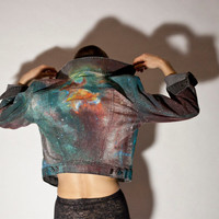 Made to Order Hand Painted Painted Space/ Galaxy/ by SnarlApparel