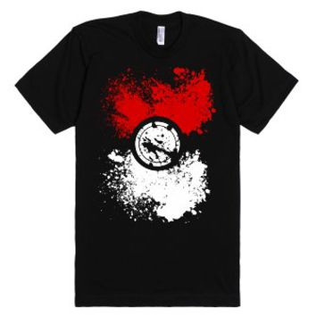 Poke Splat-Unisex Black T-Shirt