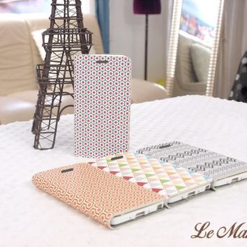 Lemano Nordic Pattern Flip Cover for Smartphone
