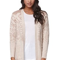 LA Hearts Open Midi Cardigan - Womens Sweater - White
