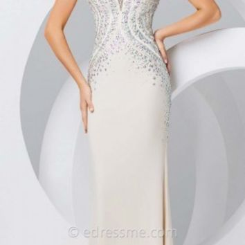 Inverted Basque Prom Gown by Tony Bowls Paris