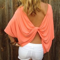 Twisted Open Back Top