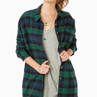 KELLYN FLANNEL TUNIC IN FOREST
