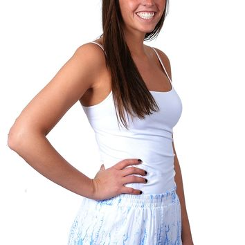 Blue & White Tie Dyed Shorts