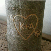 Rustic Wedding, Valentine's Day Candle, Unity Candle, Personalized Candle, Wedding Candle, Memorial Candle