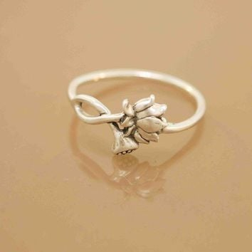 Lotus Blossom Ring by TeriLeeJewelry on Etsy