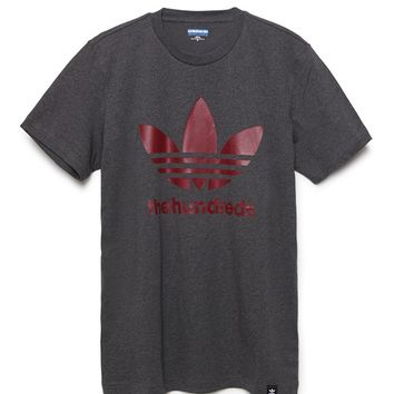 Adidas - The Hundreds Stacked T-Shirt - Mens Tee - Red