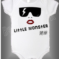 Little Monster Onesuit by MarlenasDesigns on Etsy