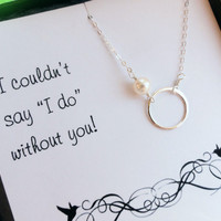 Will you be my Bridesmaid card with necklace by BriguysGirls
