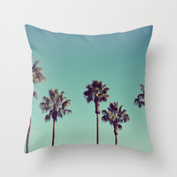 California Palm Trees Throw Pillow by Lawson Images   Society6