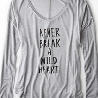 AEO Women's Don't Ask Why Shirttail T-shirt