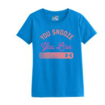 Under Armour Girls' UA Snooze Graphic T-Shirt