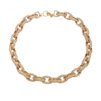 Glamorous Pave Necklace 18K Gold Plated