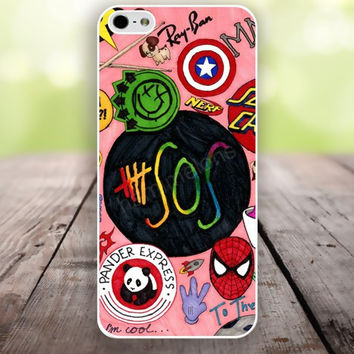 iPhone 5S case Surrender style sos colorful iphone 6 plus,Feather IPhone 4,4s case,color IPhone 6,vivid IPhone 5c,IPhone 5 case Waterproof 801