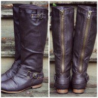 SZ 6 Maplewood Trails Brown Riding Boots
