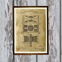 Industrial decor Patent print Device poster Vintage art AKP244