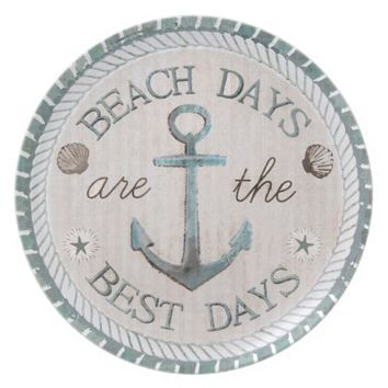 Nautical Best Days Beach Rustic Plate