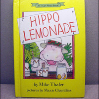 1986 Hippo Lemonade Vintage Childrens Book by VintageWoods on Etsy