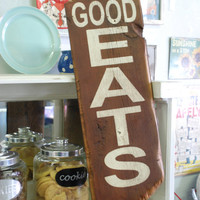 Good Eats sign made from reclaimed wood by countrypinefurniture