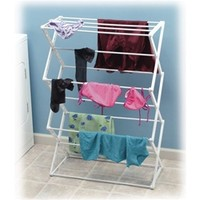 5 Tier Mildew Resistant Drying Rack dorm laundry essential product that college students need to air dry quality clothes not meant for the dryer