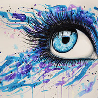 Open your eyes Art Print by PeeGeeArts   Society6