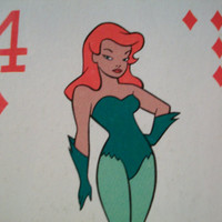 single vintage Poison Ivy playing card by GTDesigns on Etsy