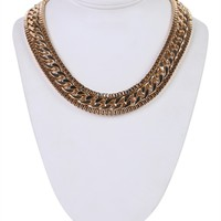 Short Necklace with Chunky Chain