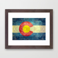 Colorado State Flag Framed Art Print by Bruce Stanfield