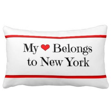 My Heart Belongs to New York Pillow