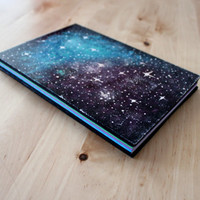 Galaxy Wood Notebook