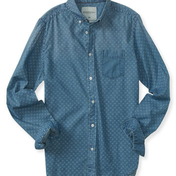 Long Sleeve Printed Woven Shirt