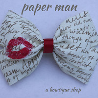 paper man hair bow