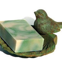 Aloe Vera and Green Clover Facial Soap by mountaingirlsoap on Etsy