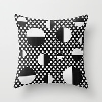 It's Black, It's White Throw Pillow by LLL Creations